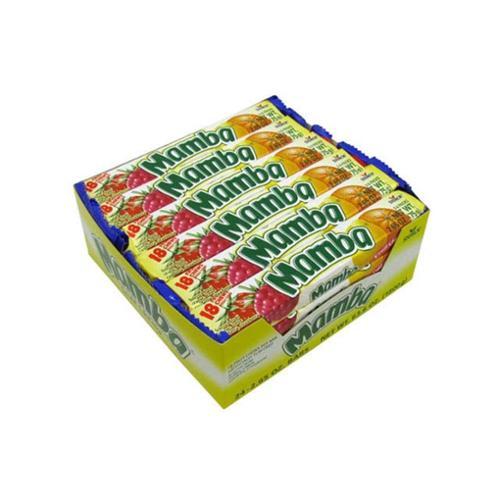Mamba Variety 18 Fruit Chews 24 pack (2.65 oz per pack) (Pack of 3)