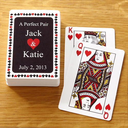 """Personalized """"A Perfect Pair"""" Deck of Cards"""