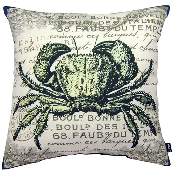 """lava Crab Sea Indoor Outdoor Pillow, 18"""" x 18"""" by Lava"""
