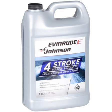 (3 Pack) Evinrude® Johnson® 4 Stroke Marine Engine Oil 128 fl. oz. Jug Evinrude Outboard Engine