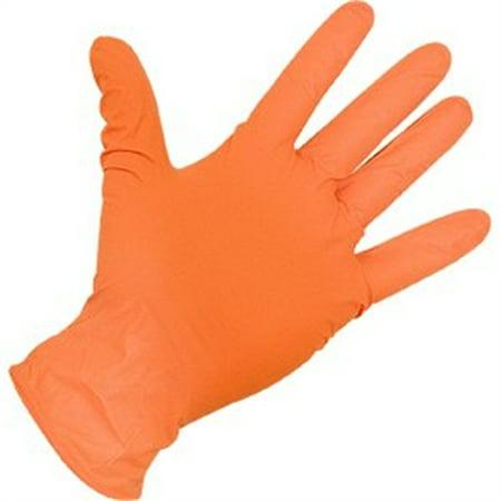 Atlantic Safety Products Powder Free Nitrile Gloves Orange 5 Mil Xx Large Or Xxl