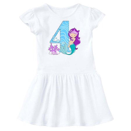 Fourth Birthday Mermaid Toddler Dress