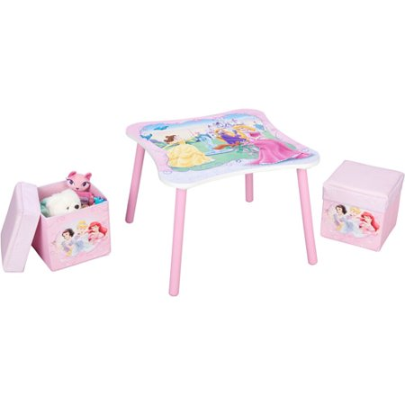 Disney - Princess Table and Ottoman Set - Walmart.com