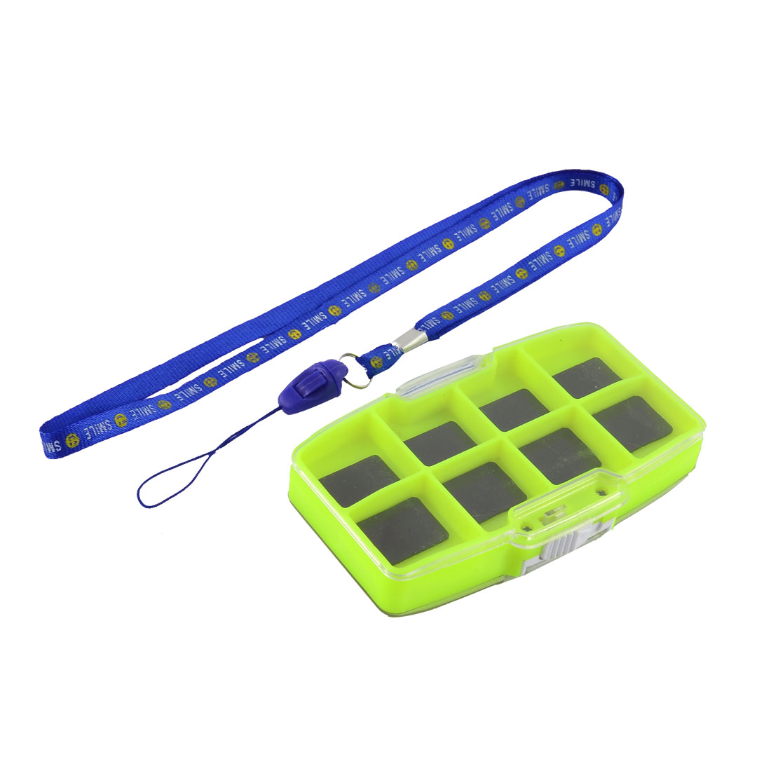 Fishing 2 Side Magnetic 13 Compartment Fish Tackle Hook Bait Storage Box w Strap