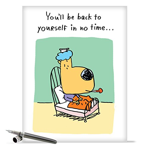 "J9657 Jumbo Hilarious Get Well Card: 'Old Self' with Envelope (Big Size: 8.5"" x 11"")"