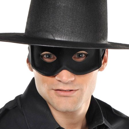 Black Halloween Thief Bandit Masquerade Mask