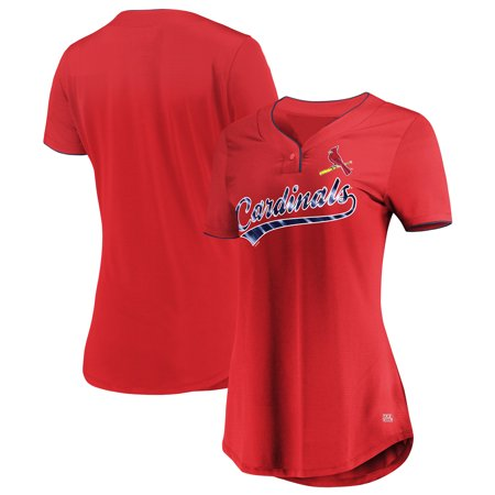 Women's Majestic Red St. Louis Cardinals Memorable Season TX3 Cool Fabric V-Neck T-Shirt](Teacher Store St Louis)