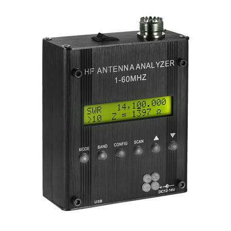 MR300 Digital Shortwave Antenna Analyzer Meter Tester 1-60MHz RF SWR for Ham