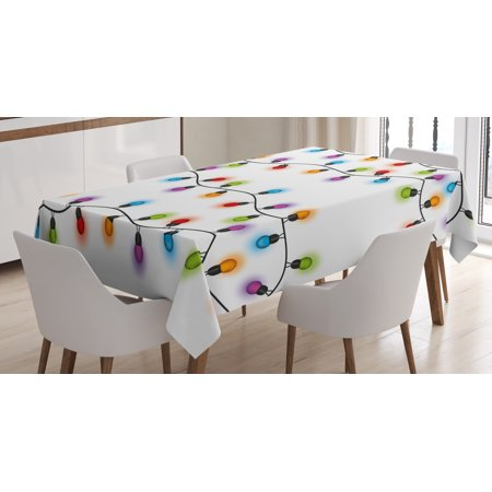 Christmas Table Decoration (Christmas Tablecloth, Vibrant Celebration Decorations Festive Traditional Special Event Preparations, Rectangular Table Cover for Dining Room Kitchen, 60 X 84 Inches, Multicolor, by)