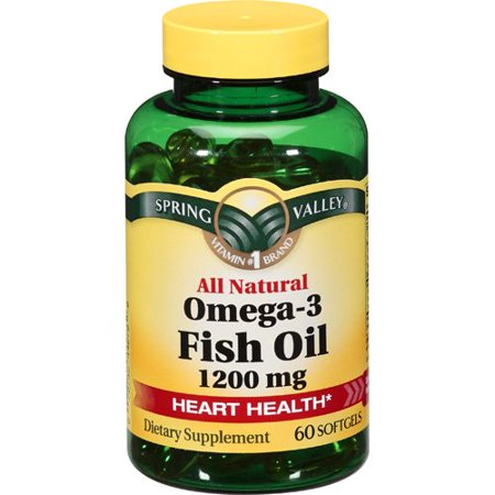 Spring valley omega 3 fish oil 1200mg softgel dietary for Spring valley fish oil review