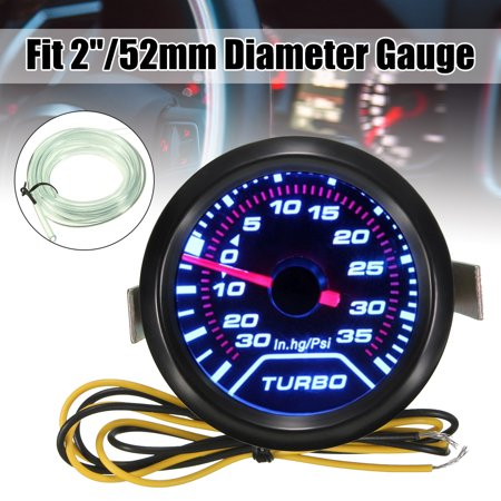 52mm 2″ LED Turbo Boost Press Pressure Vacuum Gauge Meter PSI Smoke Face (Turbo Pressure Gauge)