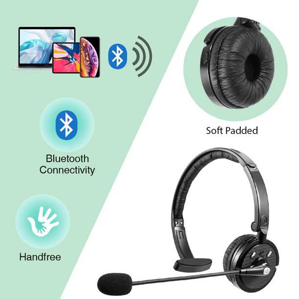 For Truck Driver Noise Cancelling Wireless Headphones Boom Mic Bluetooth Headset Walmart Com Walmart Com