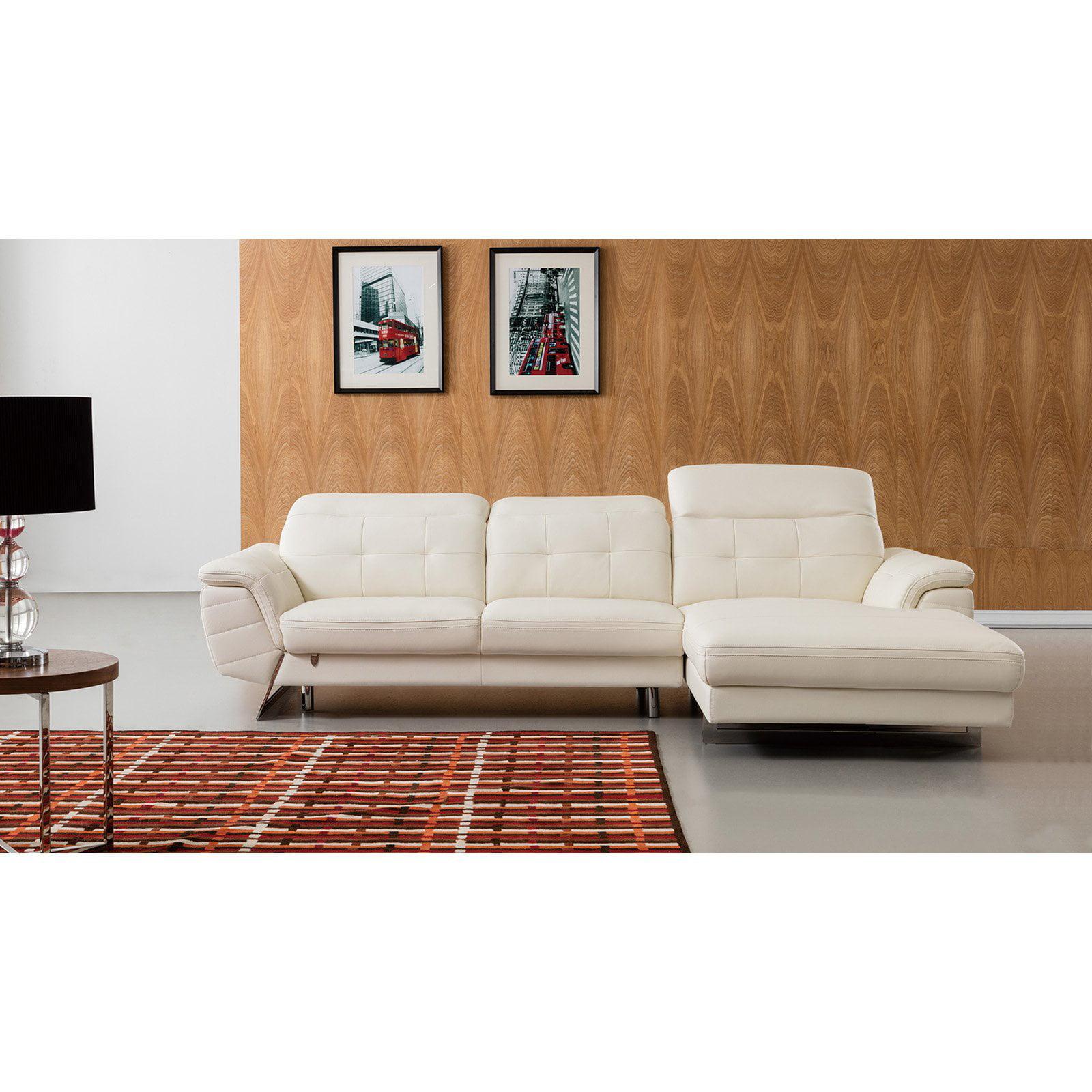 American Eagle Furniture Adair Italian Leather Sectional Sofa