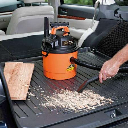 Armor All 2.5 Gallon Portable Wall Mountable Wet/Dry Utility Vaccum, Orange