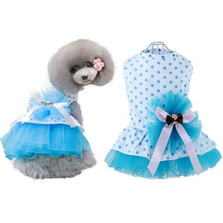 Pet Dog Polka Dots Princess Tutu Dress Puppy Clothes Skirt Apparel