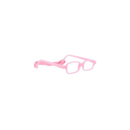 Miraflex: Built Up Bridge - New Baby1 Unbreakable Kids Eyeglass Frames | 39/14 - Pink | Age: 3Yr - (Custom Built Eyeglass Frames)