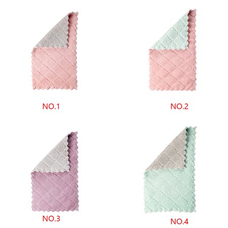 Electronicheart Double Colors Rag Dish Cloth Water Absorption Thickening Pot Washing Towel Table Home Kitchen Dishcloth - image 6 de 8