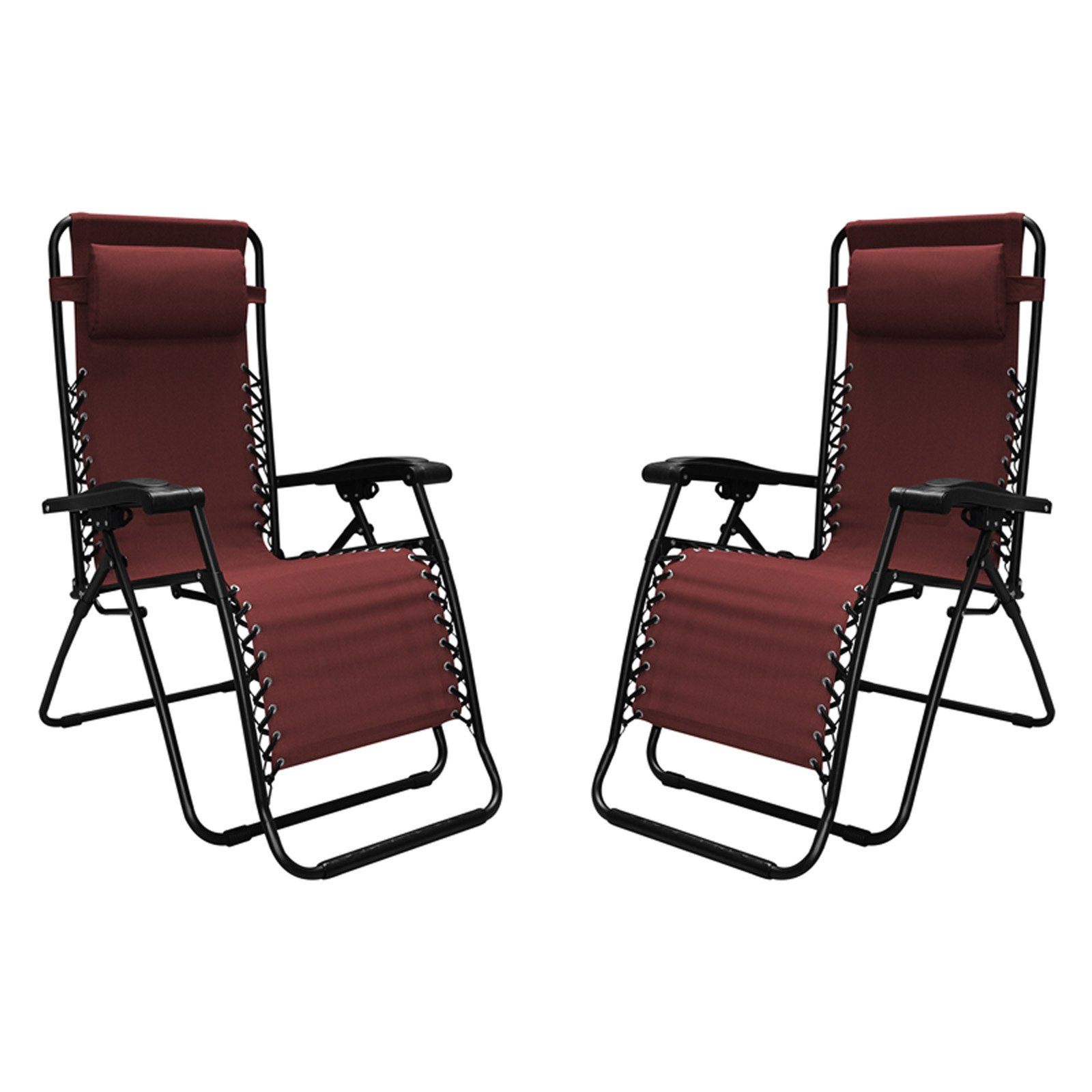 Caravan Sports Infinity Zero Gravity Chair, 2pk, Burgundy