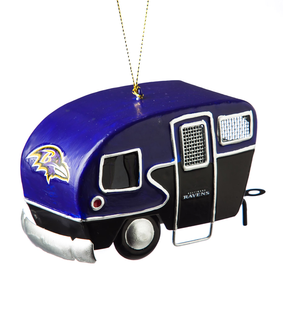 Baltimore Ravens Metal Camper Ornament