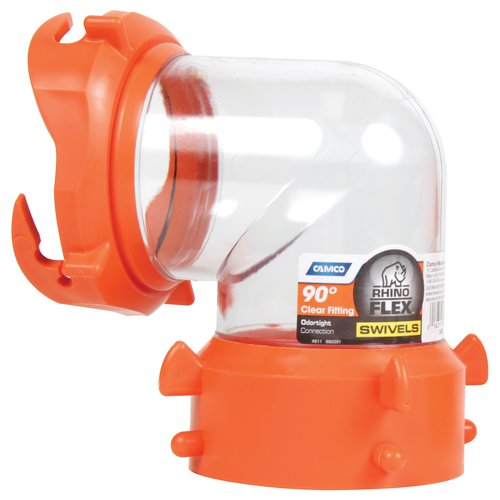 Camco RhinoFLEX 90 Degree RV Sewer Hose Swivel Fitting