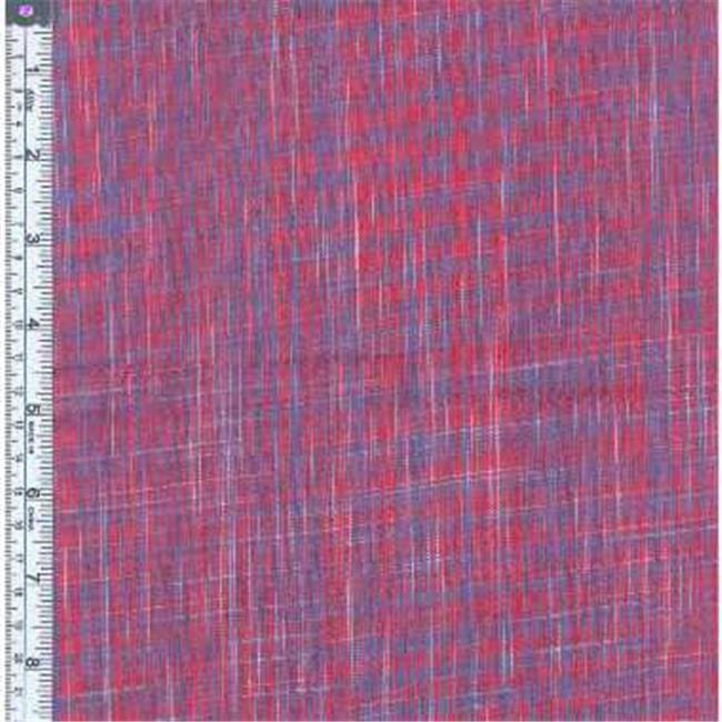 Textile Creations KL-022 Kolkata Fabric, Vertical Ikat Red, Blue, 15 yd.