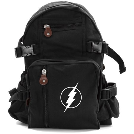 Flash Comic Superhero Heavyweight Canvas Backpack Bag