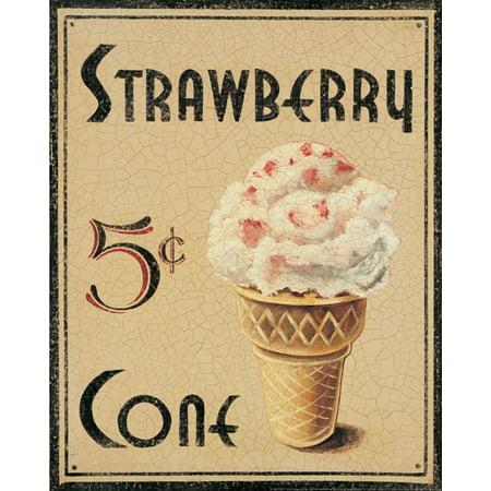 Malt Shop I Ice Cream Fifties Pop Retro Cafe Cream Ice Beautiful Sign Decorative Picture 11X14