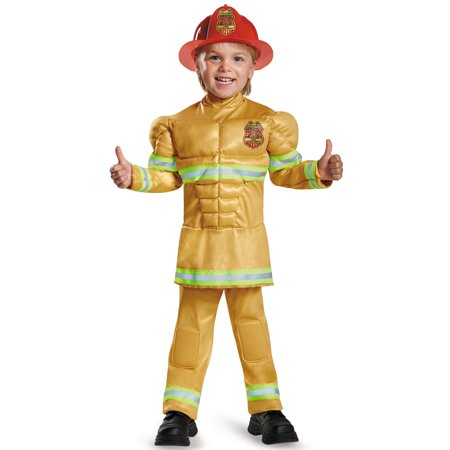 Fireman Muscle Toddler Costume