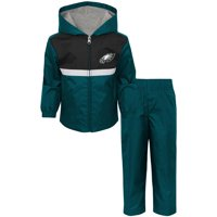 Toddler Midnight Green/Black Philadelphia Eagles Full-Zip Jacket & Pants Set