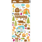 """Happy Camper Cardstock Stickers 6""""X13""""-Icons"""
