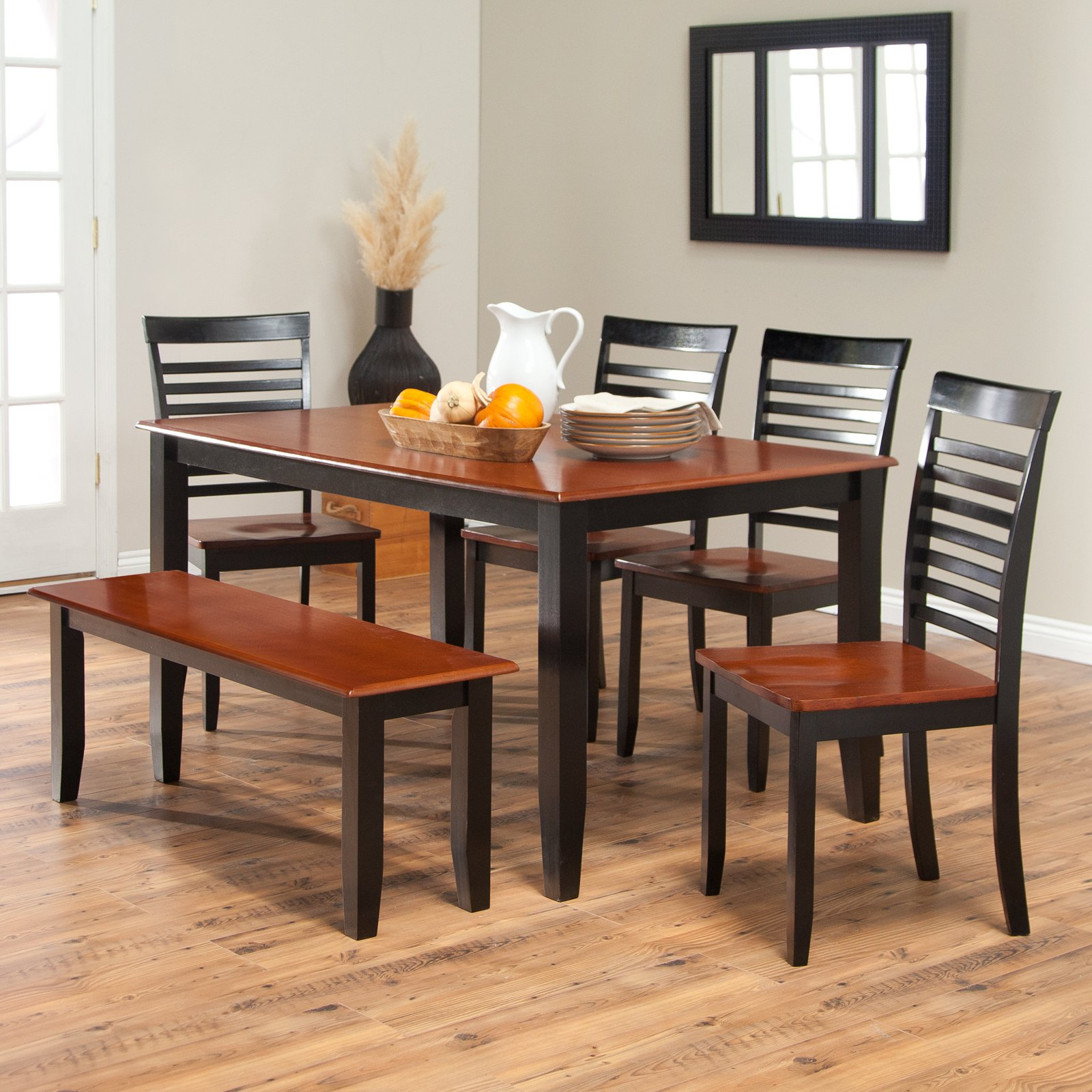 Attirant Boraam Bloomington Dining Table Set   Black/Cherry