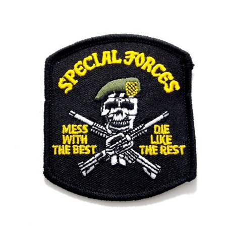 Special Forces Mess With Best Die Embroidered Military Patch Iron or Sew (Best Place To Put The Patch)