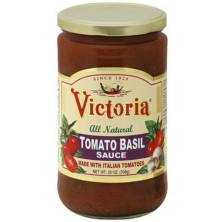 Victoria Basil Tomato Sauce, 25 oz (Pack of 6)