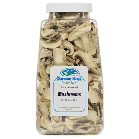 - Dehydrated Mushrooms, White