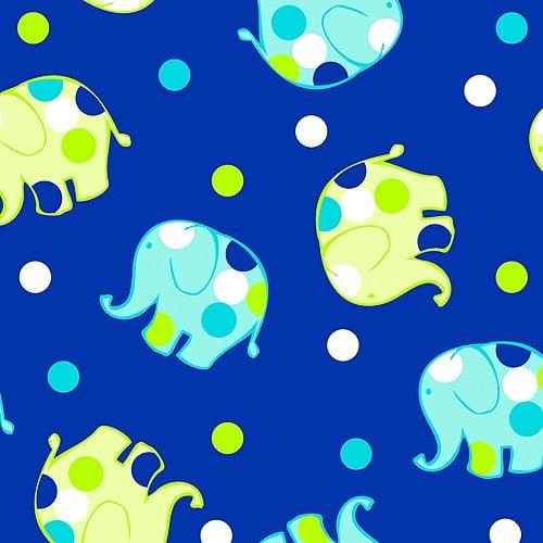 "Creative Cuts Cotton 44"" wide, 2 yard cut fabric, Elephant Print"