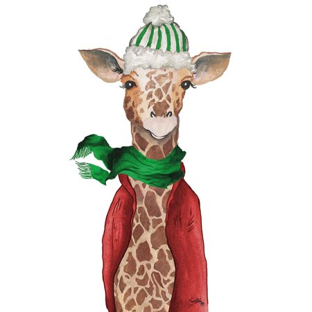 Fashion Forward Giraffe Poster Print by Elizabeth Medley Giraffe Print Fashion