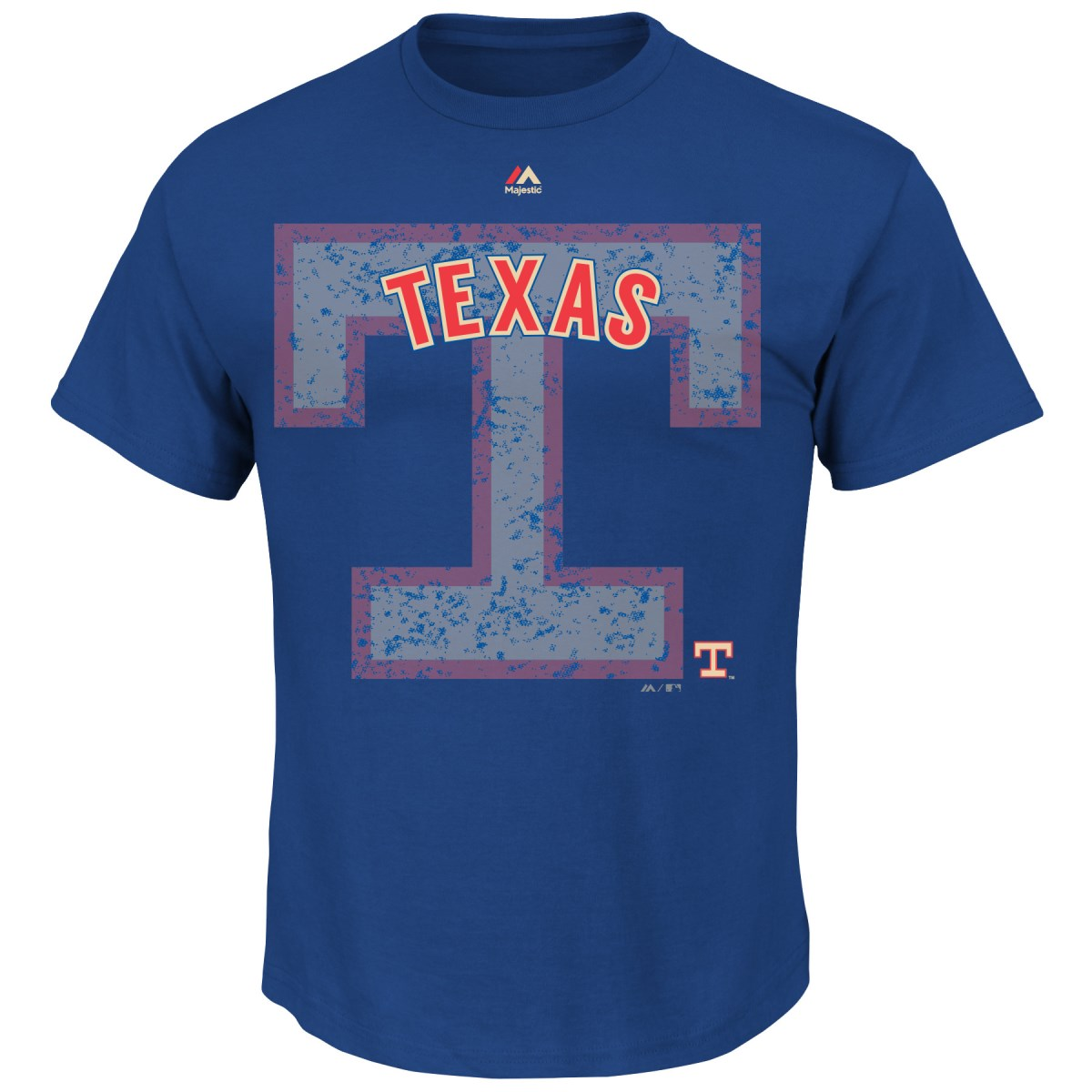"Texas Rangers Majestic MLB ""Domination"" Cooperstown Men's T-Shirt"