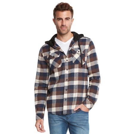 Autumn Flannel Autumn Flannel - Men's Lightweight Hoodie Plaid Flannel Shirt
