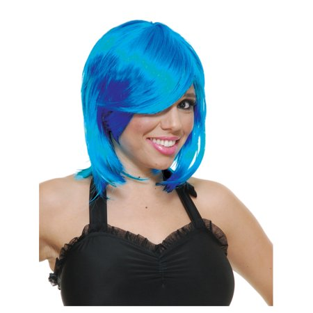 Womens Deluxe Dark Blue Anime Juvia Fairy Tail Elf Bob Wig - Fairy Tail Halloween Gray