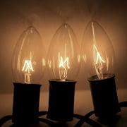 Brite Ideas 25 Bulb Clear C7 Incandescent Transparent Light Set