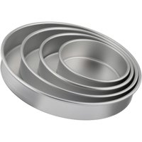 4-Pcs Wilton Performance Pans Tierd-Cake Aluminum Pan Set Deals