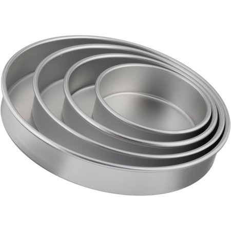 Wilton Performance Pans Tierd-Cake Aluminum Pan Set, Round, 4-Piece ()