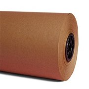 "Rolls of Brown Kraft Paper 24"" X 1625' by Paper Mart"