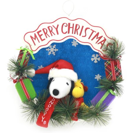 Snoopy Merry Christmas Images.Snoopy And Friends Merry Christmas Wreath