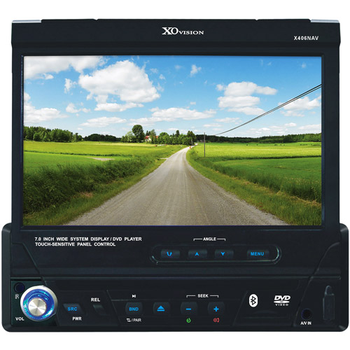 "XO Vision X406NAV, 7"" In-Dash Touch Screen DVD Receiver w/ built-in Navigation with Millions of POI"