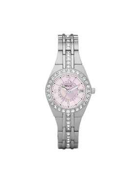 Relic by Fossil Women's Queen's Court Stainless Steel Silver and Pink Watch