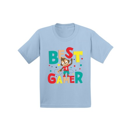 Awkward Styles Best Gamer Infant Shirt Cute Kids Gifts Birthday Tshirts for Boys Funny Gaming T shirt Video Game Themed Party Boys Game T shirts Birthday Gifts for Kids Little Monkey