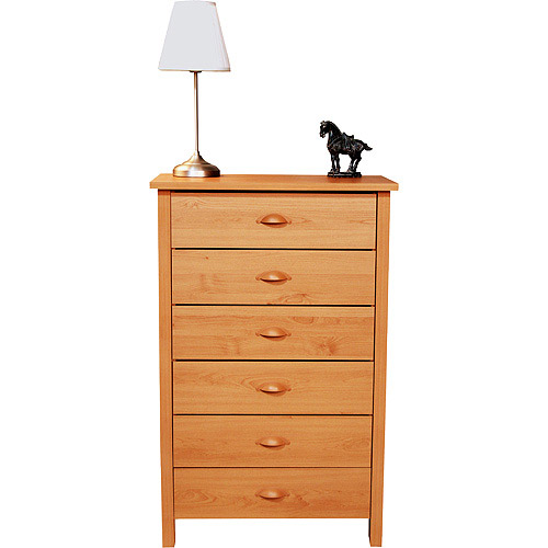 Nouvelle 6-Drawer Dresser, Oak