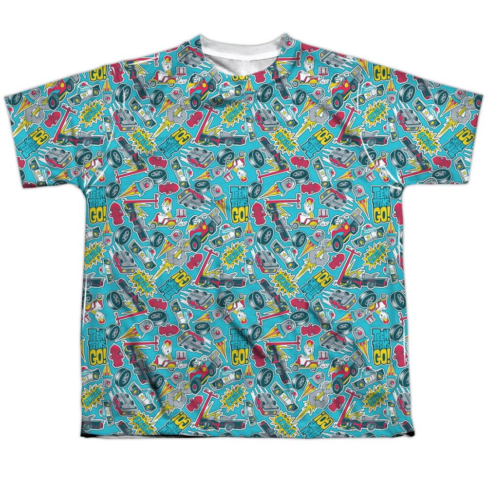 Teen Titans Go Pattern Big Boys Sublimation Shirt