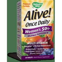 Multivitamins: Alive! Once Daily Women's 50+ Ultra Potency Multi-Vitamin